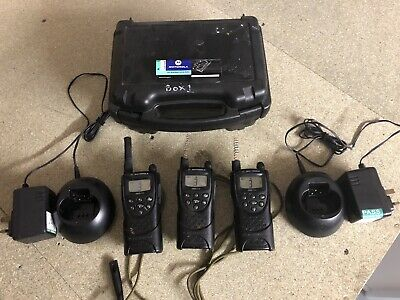 X3 Motorola XTN446 Walkie Talkies with X2 Chargers