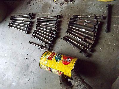 International 1466 1066 Tractor Ih Ihc Engine Motor Head 27 Bolts Washers