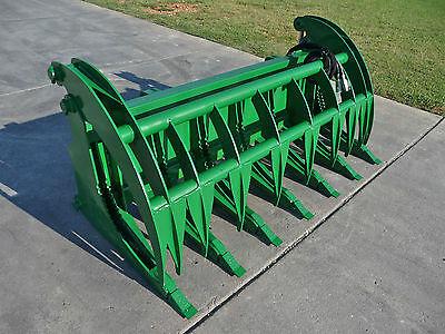 "John Deere Tractor Loader Attachment 74"" Root Rake Grapple Bucket - Ship $199"