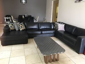 100% leather corner lounge Bossley Park Fairfield Area Preview