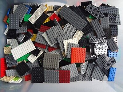 Legos Mixed Lot of 50 Flat Plates Thin Base 4x4 4x6 4x8 4x10 6x8 6x12 City Town+