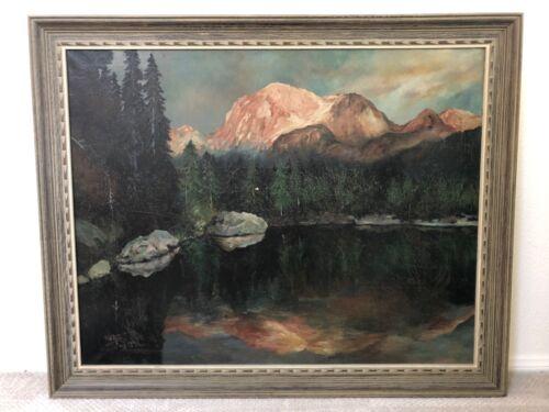 🔥 Antique California Plein Air Impressionist Oil Painting, Yosemite - 1923