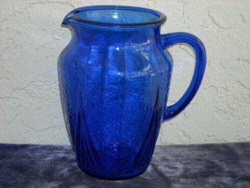 Royal Lace Pitcher  Cobalt Blue