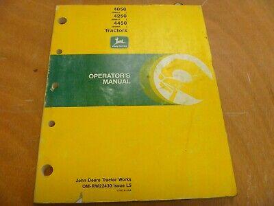 John Deere 4050 4250 4450 Tractor Owner Operator Manual Omrw22430