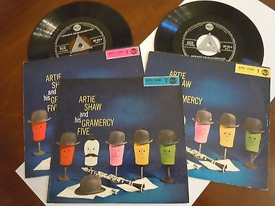 ARTIE SHAW AND HIS GRAMERCY FIVE rare 3 x  EP ´45 RCA
