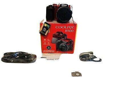 Nikon COOLPIX B500 16.0MP Digital Camera - Red (Open Box)