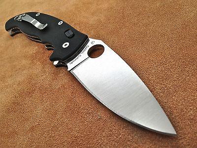 Spyderco Manix 2 XL Black Folding Knife G-10 Plain Edge C95GP2 S30V steel