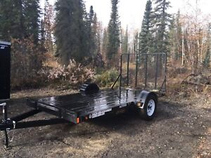 Trailer 6 x 12 Flat deck with ramp.