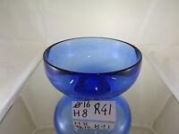 Coppa Centrotavola Svuotatasche In Vetro Blu Original Vintage Glass Bowl R41 -  - ebay.it