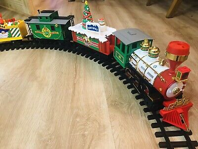 Echo Melody Christmas Train Set With Tracks In The Box, Vintage, Video Available