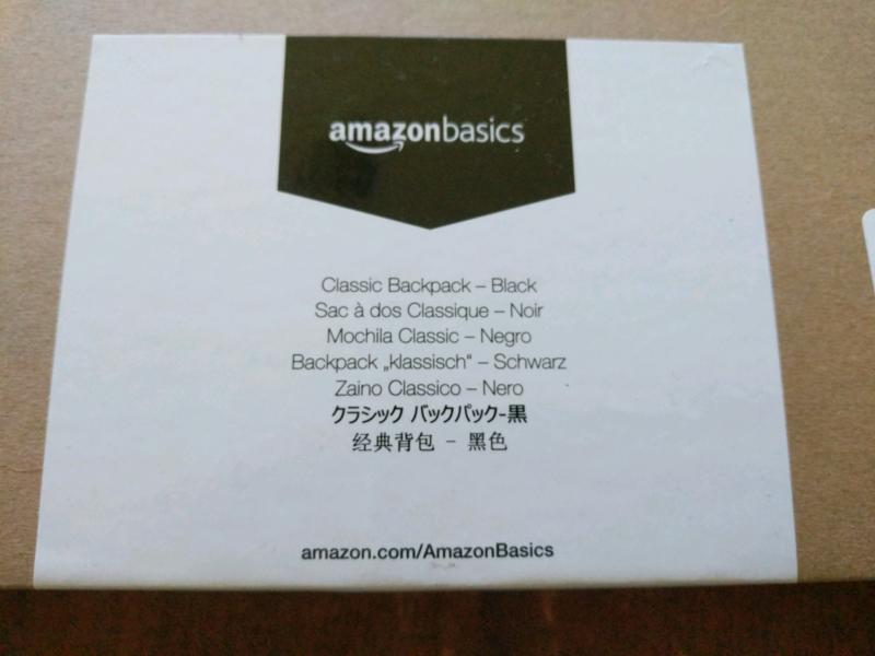 Backpack AmazonBasics Classic Bags Australia Black Gumtree vq1S0TO1W