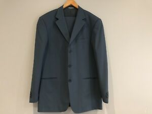 100% Wool Suit with Jacket & Matching Pants & Silk Neck Tie