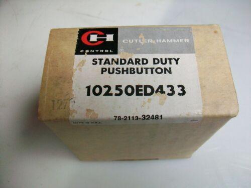 CUTLER HAMMER START-STOP STANDARD DUTY PUSH BUTTON 10250ED433