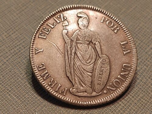 Peru 4 reales dated 1848 Lima MB