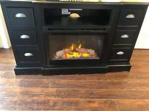 Electric fireplace cabinet