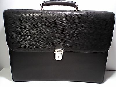 Bosca 802-86 Black Nappa Leather Laptop Flap Over - Briefcases Nappa Leather