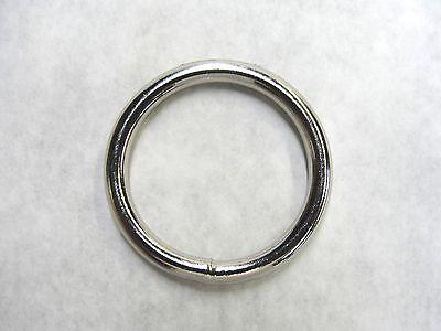 """300 Welded Metal O Rings Nickel Plated Steel 1"""" Inner Diameter Heavy Duty"""