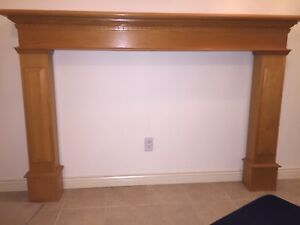 Oak Fireplace Mantle & Surround