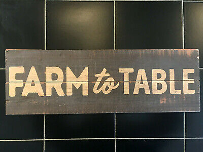 Wood Sign Store Display Farm To Table Hanger Mount 21 X 7