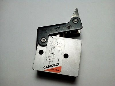 Pneumatic Button With Unidirectional Lever. Limit Switch. Camozzi 235-965
