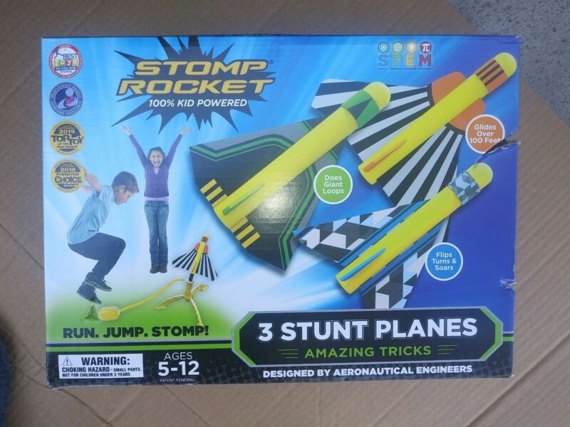 Stomp Rockets 3 Stunt Planes Ages 5-12