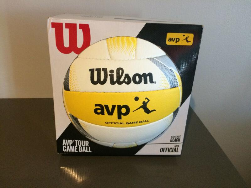 Wilson AVP Official Beach Volleyball Yellow White Black New Tour Game Ball