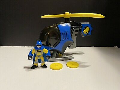 2008 Fisher Price Imaginext DC Super Friends Batman & Batcopter Bat Helicopter