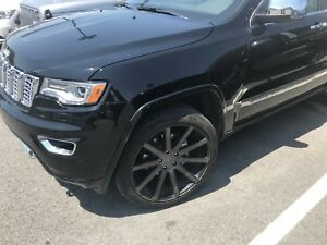 "JEEP GRAND CHEROKEE 22"" DUB WHEELS AND TIRES"