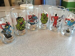 1989 ghostbusters 2 Columbia pictures glass set