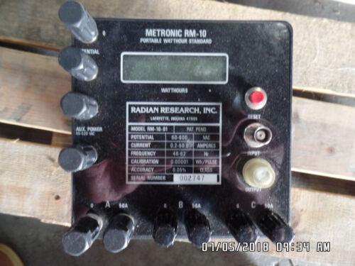 Radian Research RM-10-01 Metronic Watthour Standard RM10-01 Test WECO Watt-hour