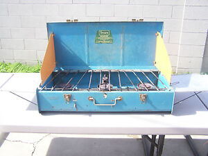 RARE Vintage Sears Blue 3 Burner Stove Model #476.74980 Dated 1967~SIDE TABLES!!