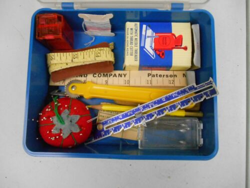 Vintage Lot of Sewing Items- Automatic Needle Threader, Pin Cushion