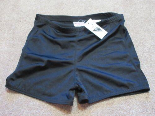 NEW Vintage COBBLESTONE Youth XL YXL Black Shorts 18% Lycra 82% Nylon