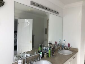 Large Mirrors and Light Fixtures