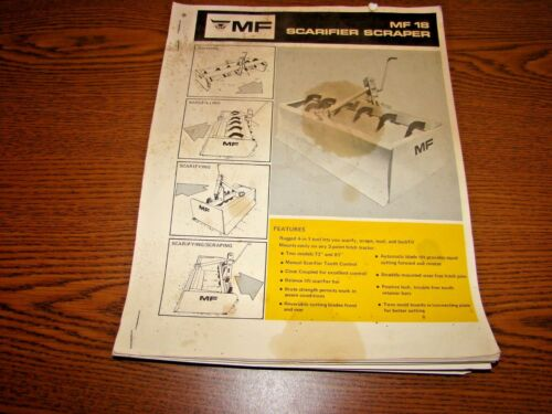 Equipment Brochure - Massey Ferguson - MF 18 - Scarifier Scraper