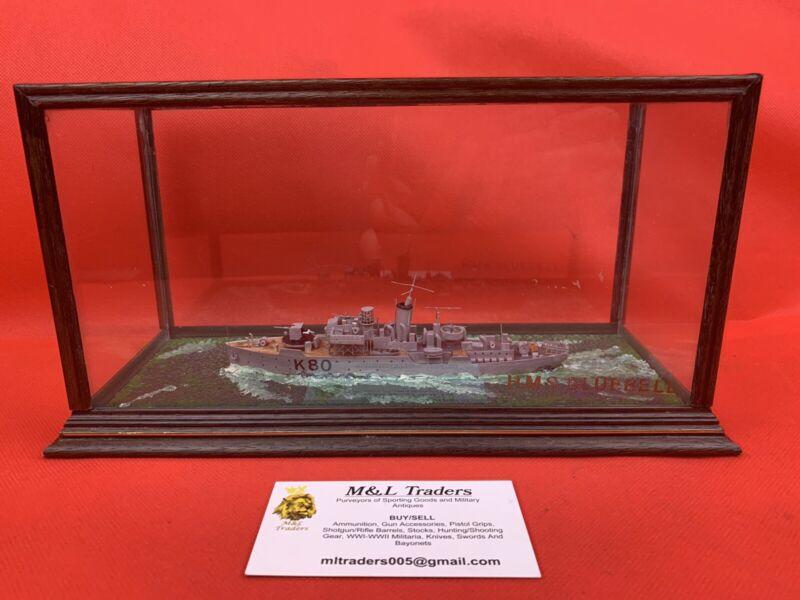 WW2 British Royal Navy Model HMS Bluebell Ron Hughes Corvette Ship Uboat