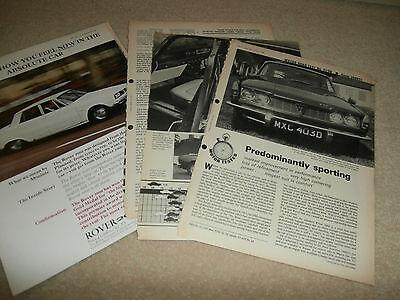 rover 2000 tc. MOTOR road test 1966 plus  period advert