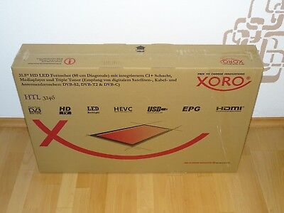 XORO HTL 3246 80cm LED TV, HDMI, Triple-Tuner, OVP&NEU, 2 Jahre Garantie, used for sale  Shipping to Nigeria