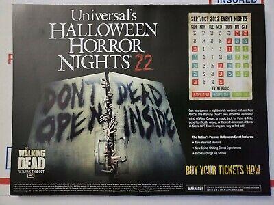 Universal Orlando Halloween Horror Nights 2012 HHN22 Event Map The Walking - Halloween Horror Nights Event Map