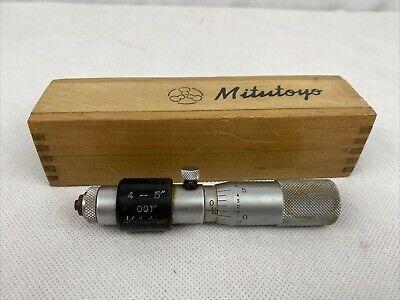 Mitutoyo 133-185 Tubular Inside Micrometer 4-5 Range .001 Graduation