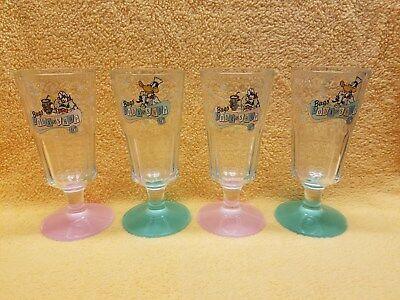 Warner Bros. - 1994 Bugs Soda Shop Fountain Glasses Set of 4 (Disney)](Soda Shop Glasses)