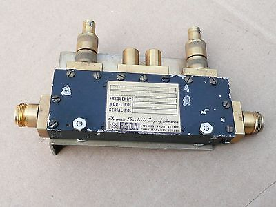 Electronic Standards Corp. Dual Directional Coupler 2.5-2.7 Ghz Rf Microwave