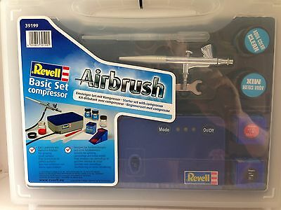 +++ Revell 39199 Airbrush Basic Set mit Kompressor 39199