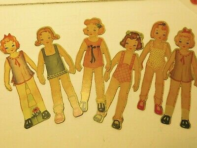 Rare Girl paper dolls Lot of 6 from Doll House Dress Shop  1941  #4320 for sale  Eau Claire