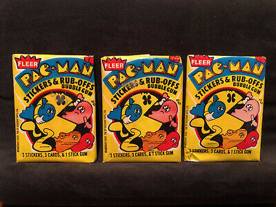 Vintage Pac-man Yellow Packs - 3 Pack Deal