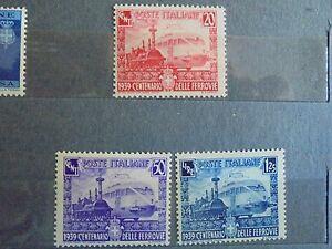 REGNO-1939-CENTENARIO-FERROVIE-3-val-NUOVO-INTEGRO-PERFETTO