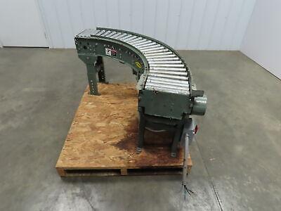 Hytrol 12wide 90 Deg Curved Power Roller Live Roller Conveyor 12 Hp. 67 Fpm.