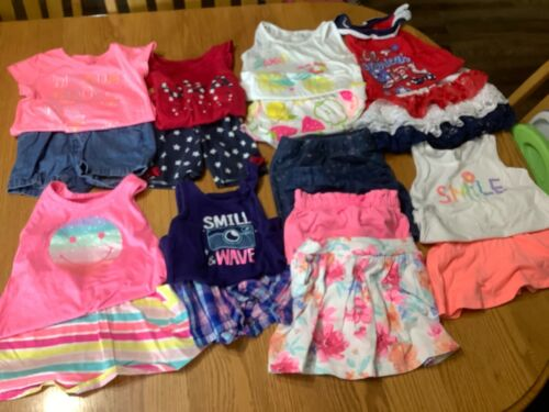 Large Lot 18 Pieces  Girls Size 3T Kids Clothing Lot  Summer Clothes