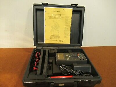 Military Fluke 27fm Multimeter With Attachments And Hard Case