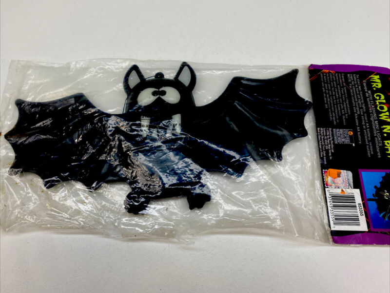 Vtg 1994 Paper Magic Mr Glow N Bat Plastic Light Up Halloween Decoration